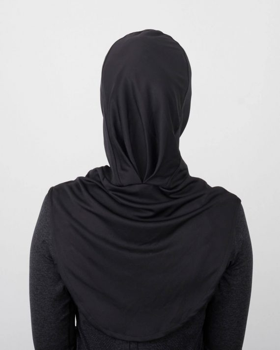 Sport Hijab by NURD Freedom Product Black Back