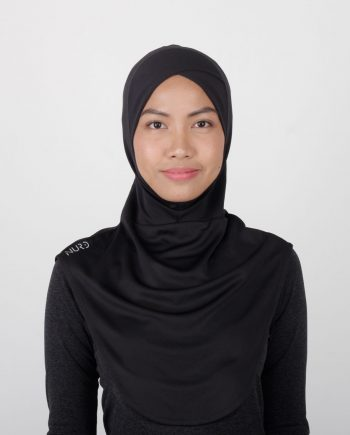 Sport Hijab by NURD Freedom Product Black Front