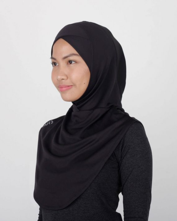 Sport Hijab by NURD Freedom Product Black Left