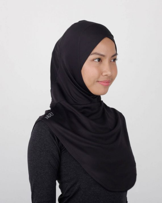 Sport Hijab by NURD Freedom Product Black Right